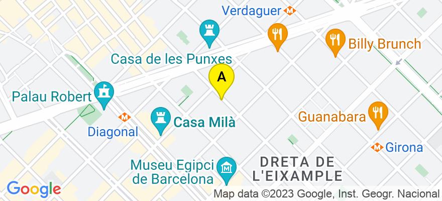 situacion en el mapa de . Direccion: Roger de Lluria, 117, 1º, 2ª, 08037 Barcelona. Barcelona