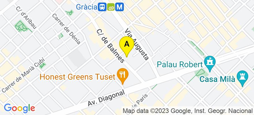situacion en el mapa de . Direccion: C/ Balmes nº 188, 4º 1ª, 08006 Barcelona. Barcelona