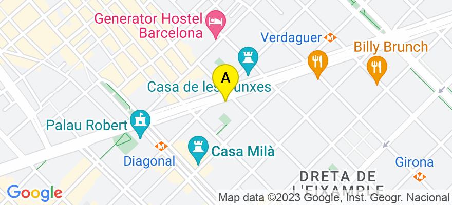 situacion en el mapa de . Direccion: Avda. Diagonal, 363, 2º 1ª-A, 08037 Barcelona. Barcelona