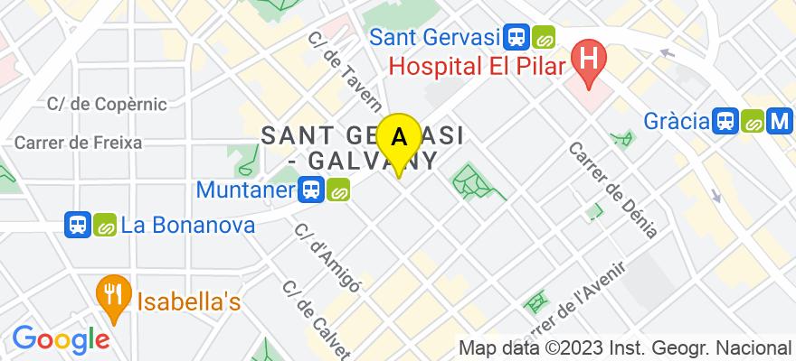 situacion en el mapa de . Direccion: Calle Muntaner, 354, 08021 Barcelona. Barcelona