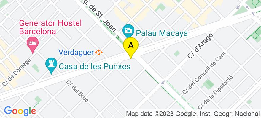 situacion en el mapa de . Direccion: Avda.Diagonal, 327, B-2ª, 08009 Barcelona. Barcelona