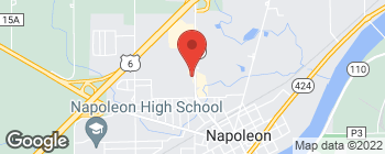 Map of 1411 Scott St in Napoleon