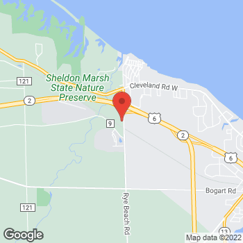 Map of Arby's at 609 Rye Beach Rd, Huron, OH 44839