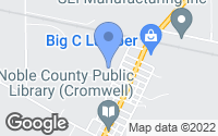 Map of Cromwell, IN