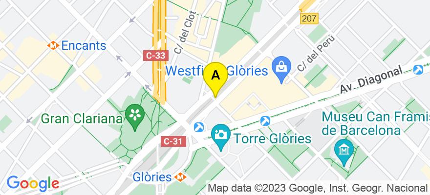 situacion en el mapa de . Direccion: Gran Via 566 4 H, 08011 Barcelona. Barcelona