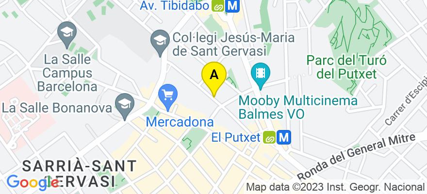 situacion en el mapa de . Direccion: Teodora Lamadrid 28, 1-1ª, 08022 Barcelona. Barcelona
