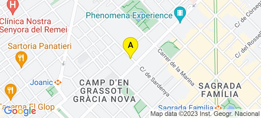 situacion en el mapa de . Direccion: Sardenya nº 397-399, 3º 4ª, 08025 Barcelona. Barcelona