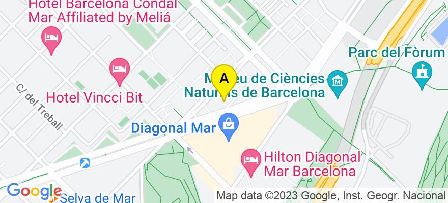 situacion en el mapa de . Direccion: AV. DIAGONAL 12, 08019 Barcelona. Barcelona