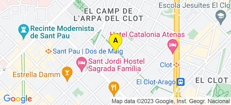 situacion en el mapa de . Direccion: Rambla de Cataluña, 125, 2º 2ª, 08008 Barcelona. Barcelona
