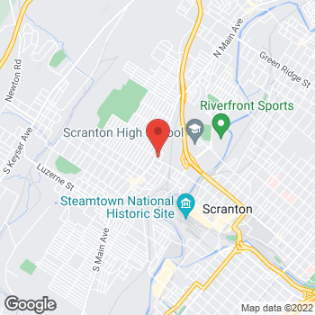 Map of Rite Aid at 500 North Main Avenue, Scranton, PA 18504