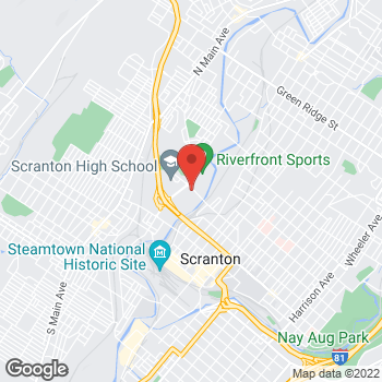 Map of Taco Bell at 2 Olive St, Scranton, PA 18508