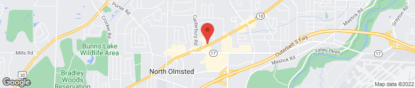 Map of 25912 Lorain Road in North Olmsted