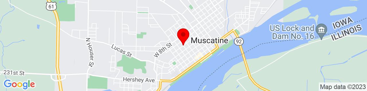 Google Map of 41.42327299999999, -91.050994