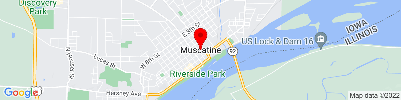 Google Map of 41.424473, -91.0432051