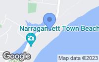 Map of Narragansett, RI
