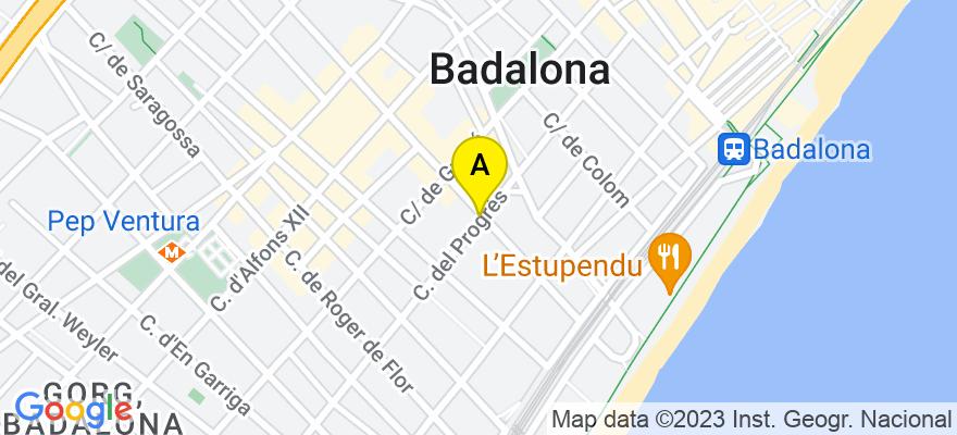 situacion en el mapa de . Direccion: C/ Conquista, 47, 08912 Badalona. Barcelona