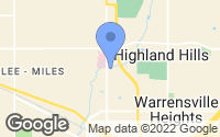 Map of Highland Hills, OH
