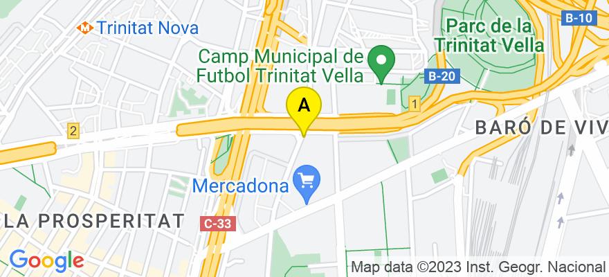 situacion en el mapa de . Direccion: RIBES,42, 08013 Barcelona. Barcelona