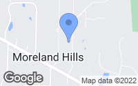 Map of Moreland Hills, OH