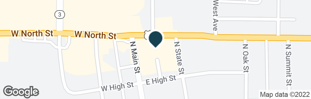 Google Map of124 E NORTH ST