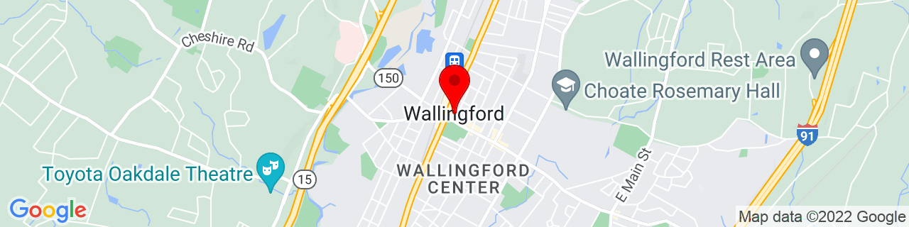 Google Map of 41.456944444444446, -72.82305555555556