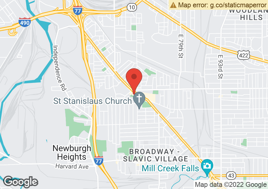 Google Map of 6410 BROADWAY AVE