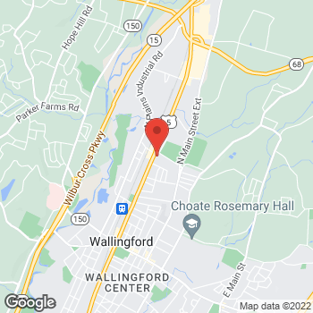 Map of Rite Aid at 605 North Colony Road, Wallingford, CT 06492