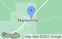 Map of Marienville, PA