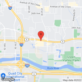 Map of Hair Cuttery at 3915 41st  Avenue Dr, Moline, IL 61265