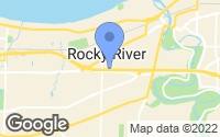 Map of Rocky River, OH
