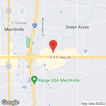 Map of Guitar Center at 2108 E 80th Ave, Merrillville, IN 46410