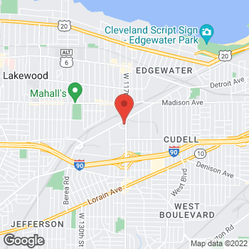 Map of Staples at 2150 West 117th Street, Cleveland, OH 44111