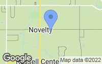 Map of Novelty, OH