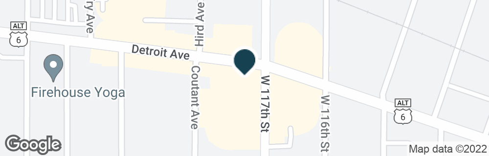 Google Map of11701 DETROIT AVE