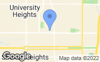 Map of University Heights, OH