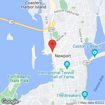 Map of Panera Bread at 49 Long Wharf Mall, Newport, RI 02840