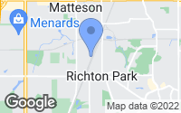 Map of Richton Park, IL