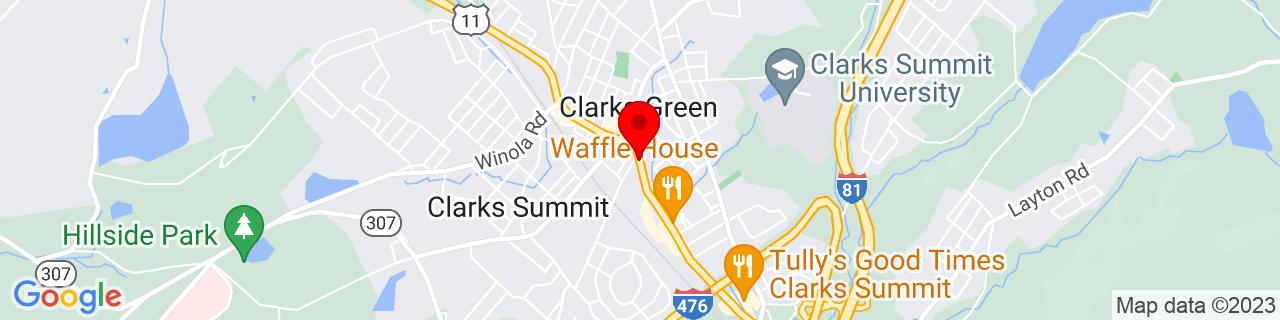 Google Map of 41.4916996, -75.6981031