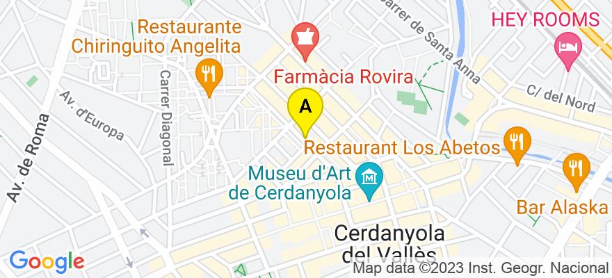 situacion en el mapa de . Direccion: Carrer Sant Antoni, 32, 2-2, 08290 Cerdanyola del Vallès. Barcelona