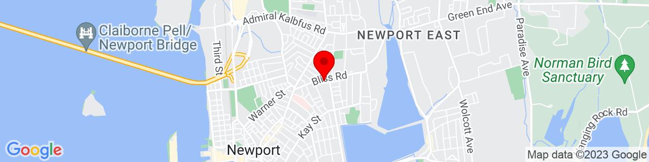 Google Map of 41.499733, -71.302027
