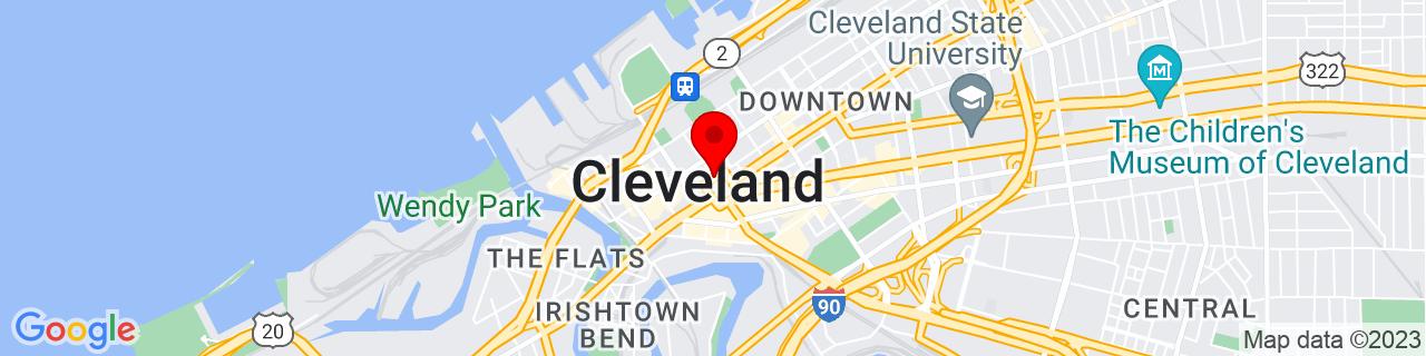 Google Map of 41.5003179, -81.694278