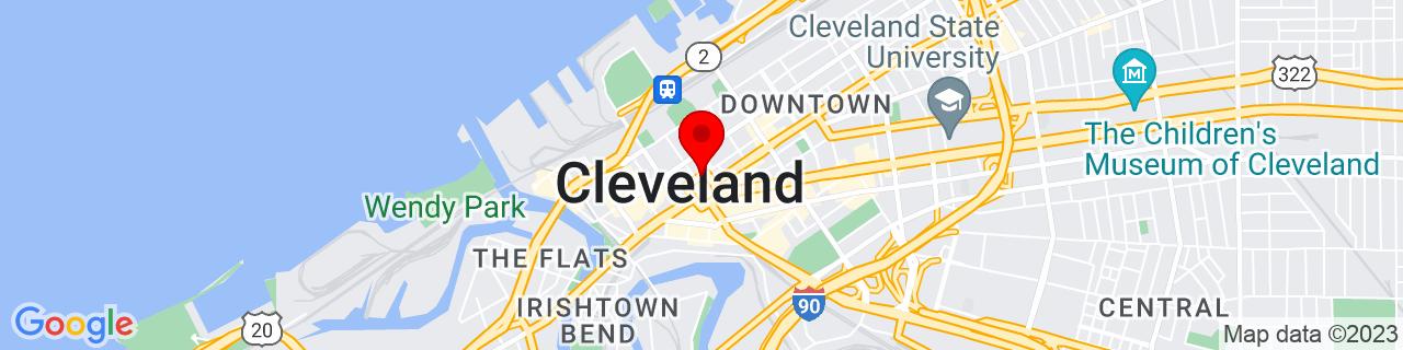 Google Map of 41.5005598, -81.69381709999999