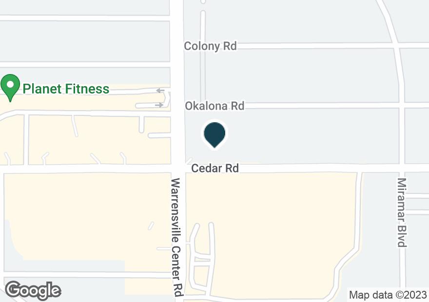 Google Map of2135 WARRENSVILLE CENTER RD