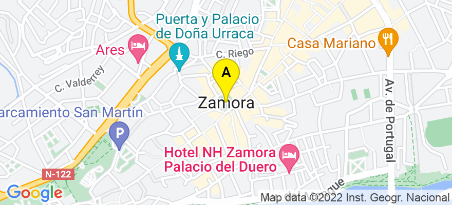situacion en el mapa de . Direccion: Zamora, 49015 Zamora. Zamora
