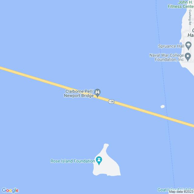 Map of Newport Pell Bridge