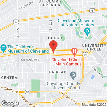 Map of Check `n Go at 8043 Euclid Avenue, Cleveland, OH 44103