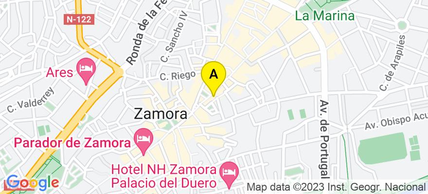 situacion en el mapa de . Direccion: C/ Santa Clara 4 Oficina 9, 49003 Zamora. Zamora