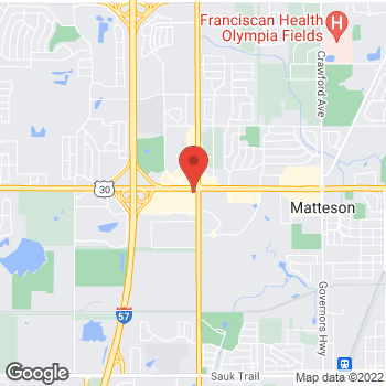 Map of Verizon Authorized Retailer – TCC at 4811 211th Street, Matteson, IL 60443