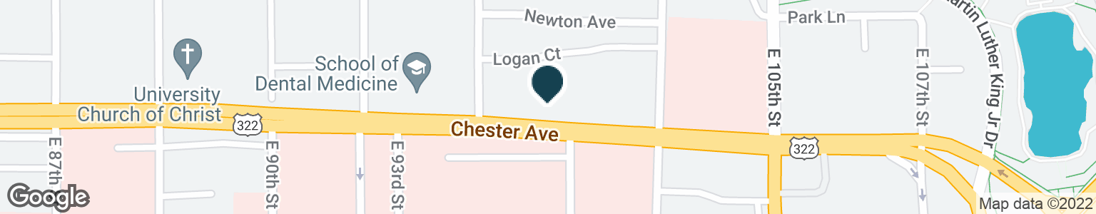Google Map of10001 CHESTER AVE