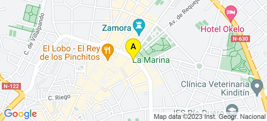 situacion en el mapa de . Direccion: Calle Santa Clara 34, 4B, 49015 Zamora. Zamora